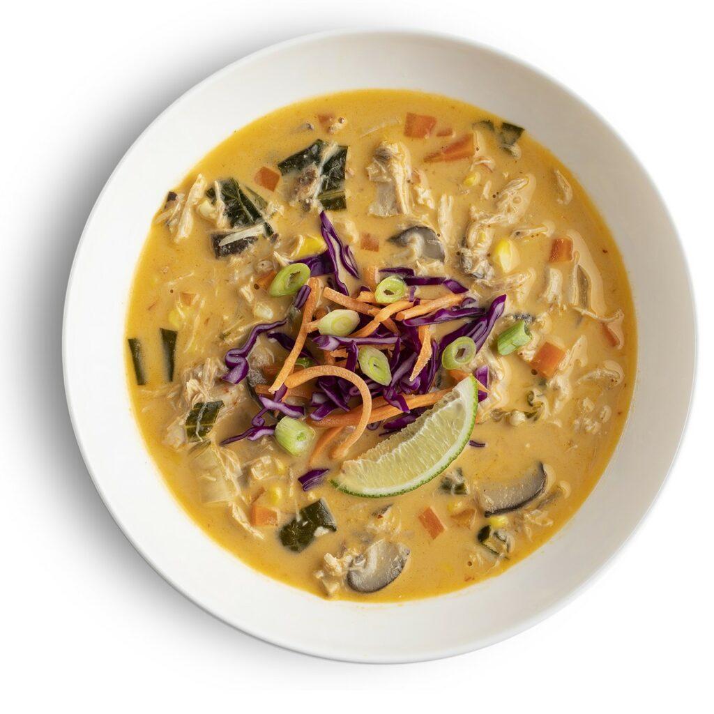 Thai chicken Soup Bowl